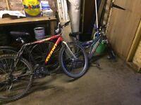 3 mountin bikes