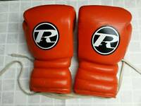 Ringside Pro Sparring Revolution Boxing Gloves 16oz Leather Orange