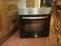 Oven inbuilt electric stainless steel and black