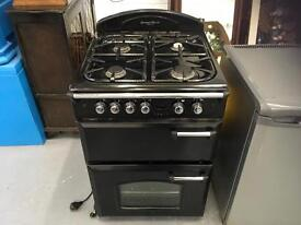 Leisure Gourmet Classic black full size freestanding gas cooker