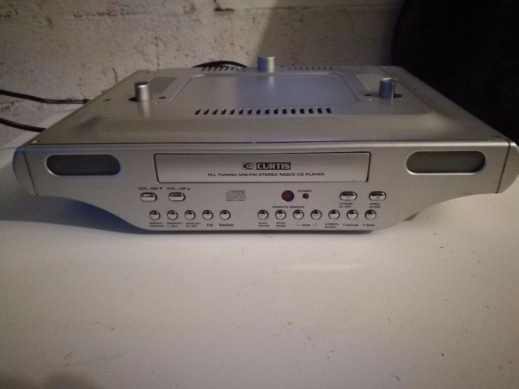 CURTIS MW/FM stereo radio cd player - for mounting under kitchen cupboard