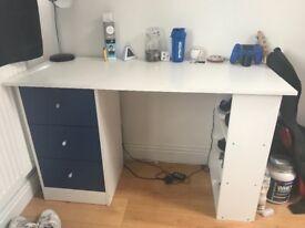 White/Blue Desk