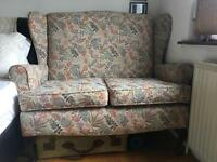 Vintage Pattern Floral Two Seater Sofa