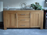 BARKER AND STONEHOUSE SOLID OAK SIDEBOARD - medium sized will fit anywhere