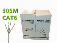 305M 1000ft RJ45 Cat6 Network Ethernet Cable Roll UTP Roll Modem ADSL Internet Router