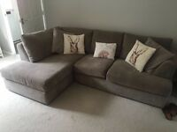 HOMEBASE GREY MINK 4 SEATER CORNER SOFA GREAT CONDITION
