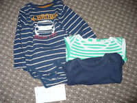 Bundle of 10 baby boy clothes 12-18mths: long sleeve bodysuits and tops (1 new), trousers, shirt