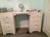 Set of drawers and matching dressing table/desk
