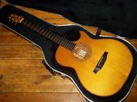 Fylde Alchemist Custom acoustic with Claro Walnut back/sides, Tulipwood binding, Headway pickup