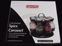 8 Jar Rotating Spice Carousel (New/Boxed)