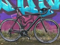 56cm Specialized Tarmac Sport Full Carbon 105 Black Stealth Road Bike - Upgraded Wheels & Tyres