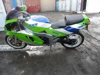1989 KAWASAKI ZXR750H GOOD CONDITION AND RUNNER NEEDS A LITTLE ATTENTION HULL