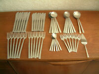 51 piece Viners Stainless Steel cutlery set from their 'Studio' range, designed by Gerald Benney.