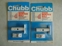 2 Chubb Door Mortice Security Bolts