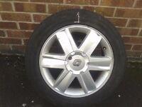 Renault Alloy Wheel 4 Stud 205/55RZ16 Spare Excellent Tyre 205/55/16
