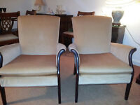 2 x Parker Knoll armchairs