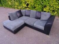 Black/Grey Corner Sofa *Excellent Clean Condition*