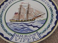 Poole Pottery Plate H.M.SLOOP VIPER