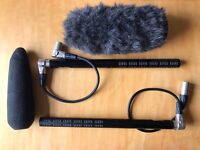 2 Sennheiser ME66/K6 Shotgun Microphones