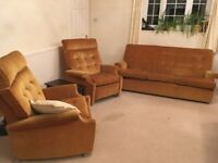 Parker Knoll 3 piece suite with 2 recliner armchairs
