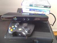 Xbox 360S + Wireless controller + Kinect in Excellent Condition