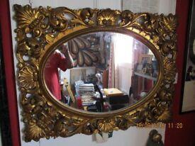 Superb ornate gilt wood framed mirror