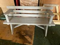 Heavy duty tanalised bench with arms