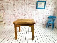 Oak Style Reclaimed Rustic Dining Kitchen Table to Seat Eight People - Contemporary