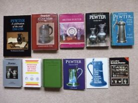 10 books on collecting and identifying antique pewter