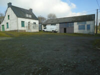 DETACHED HOUSE IN FRANCE (BRITTANY) WITH LARGE WORKSHOP NOT OVERLOOKED QUIET COUNTRYSIDE VALUE