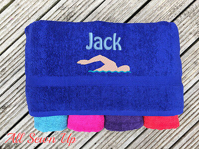 Embroidered Personalised Swimming or Sports Towel.  Ideal kids gift // swimmer - Swimmers Towel