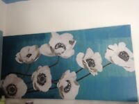 Tall long or wide Flowered Oil Painting on wooden stretcher