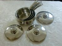 Set of Four Stellar Pans made by Silampos - Portugal