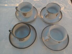 Four Denby Tea Cups and Saucers