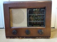 BUSH AC31 VINTAGE VALVE RADIO