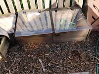 Planters and cold frame