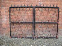 Pair of Painted Galvanized Steel Driveway Gates, 2.9m Wide