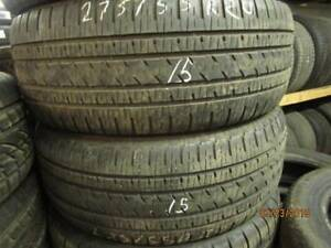 275/55R20  2 OPNLY USED BRIDGESTONE A*/S TIORE