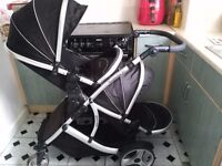 twin double pushchair stroller buggy kidz kargo duellette 21
