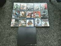 PS3 Slim console and 15 games (No controller)