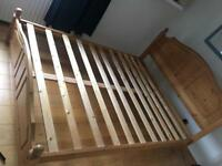 King size bed frame in solid pine