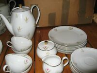 GERMAN VINTAGE SET OF CUP, SAUCER, TEA CUPS, TEA POT, SIDE PLATES MADE IN BAVAIRA, SHINDING quality