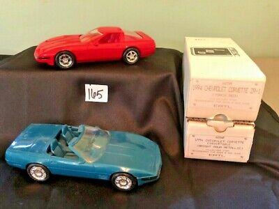 Lot Of 2 Vintage Nos 1994 Ertl Chevrolet Chevy Corvettes Blue Red W Boxes Nip