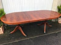 Large Extendable Walnut Table. CAN DELIVER. Great for Occasions/ entertaining