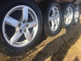 """As New 16"""" Volvo alloy wheels with NEW 215/60/16 Avon winter tyres XC70 XC70 Ford Kuga"""