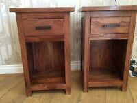 Two solid wood bedside table!!!!