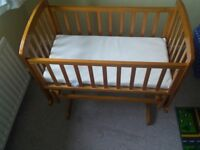 Rocking Cot - perfect for trying to get a restless baby to sleep