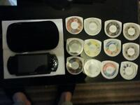sony psp with 12 games