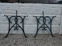 cast iron table ends / bench ends / garden furniture / patio / outdoor furniture / decking area