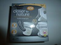 Tommee Tippee Closer to Nature BPA Free Milk Storage Pots